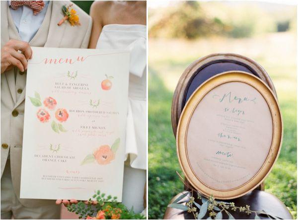 Elegant Wedding Menu Ideas And Inspiration For Your Lake Tahoe