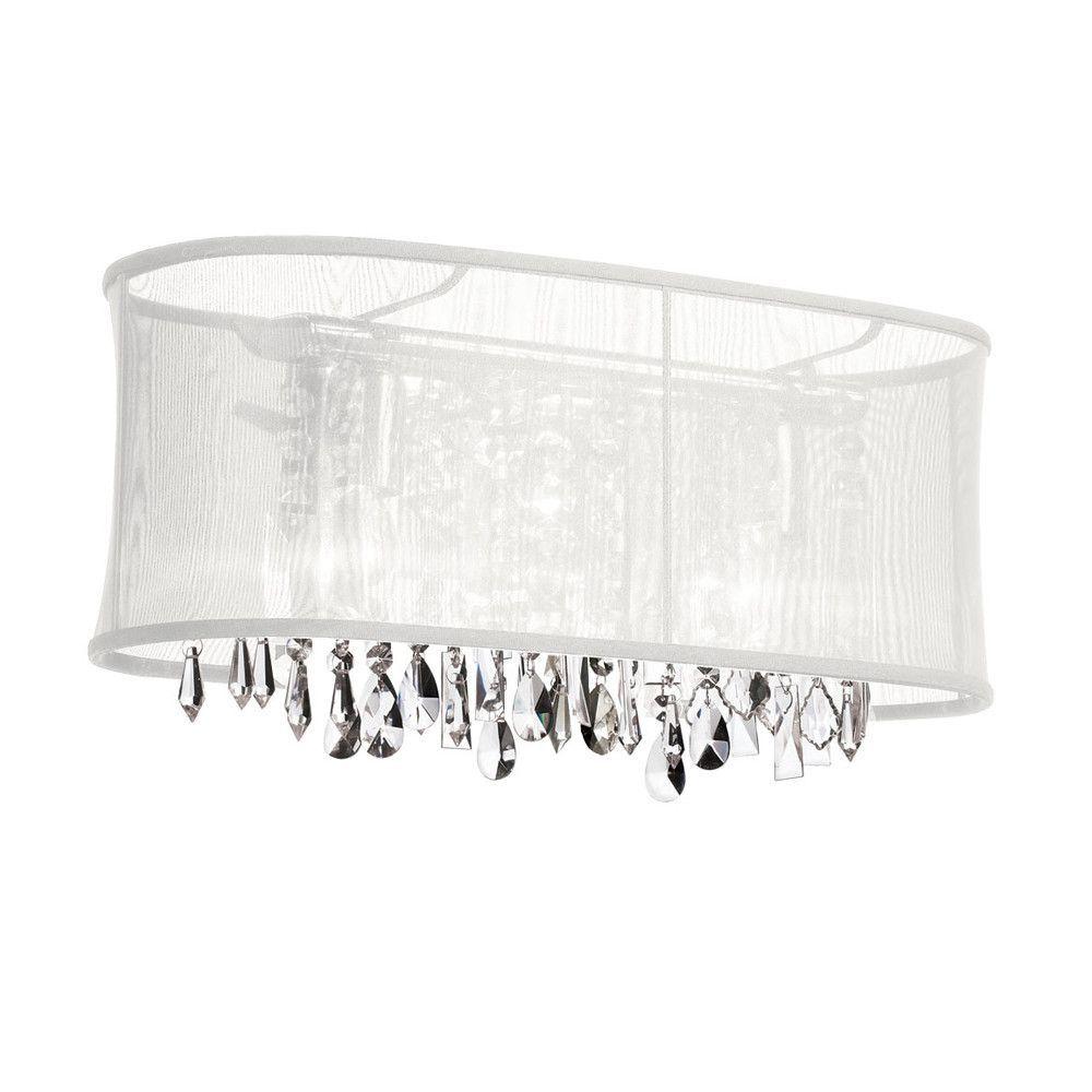 Dainolite 3 Light Crystal Vanity Lighting Polished Chrome Finish Brilliant Crystal Vanity Lights For Bathroom Design Ideas