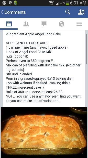 Apple Angelfood Cake