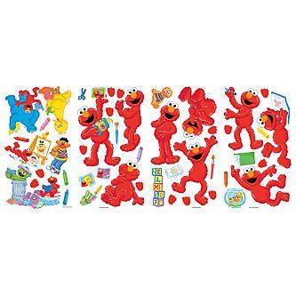 RoomMates Sesame Street - Elmo-Centric Peel & Stick Wall Decals ...