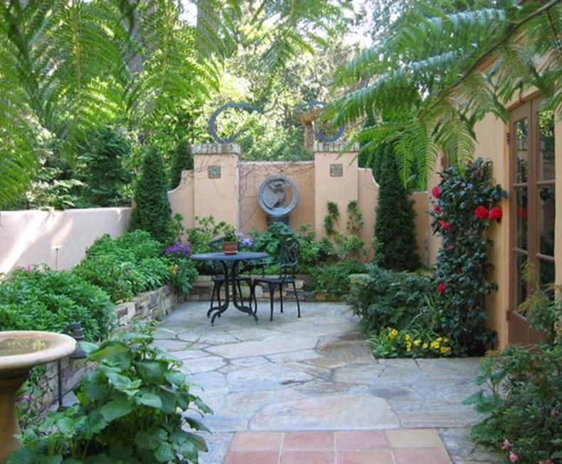 the wonderful thing about courtyards is they can become the most intimate space for two or a