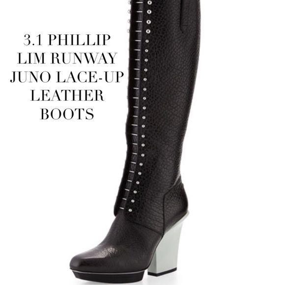 9d03b1dceb1 NIB Phillip Lim 3.1 Black Leather Knee Boot