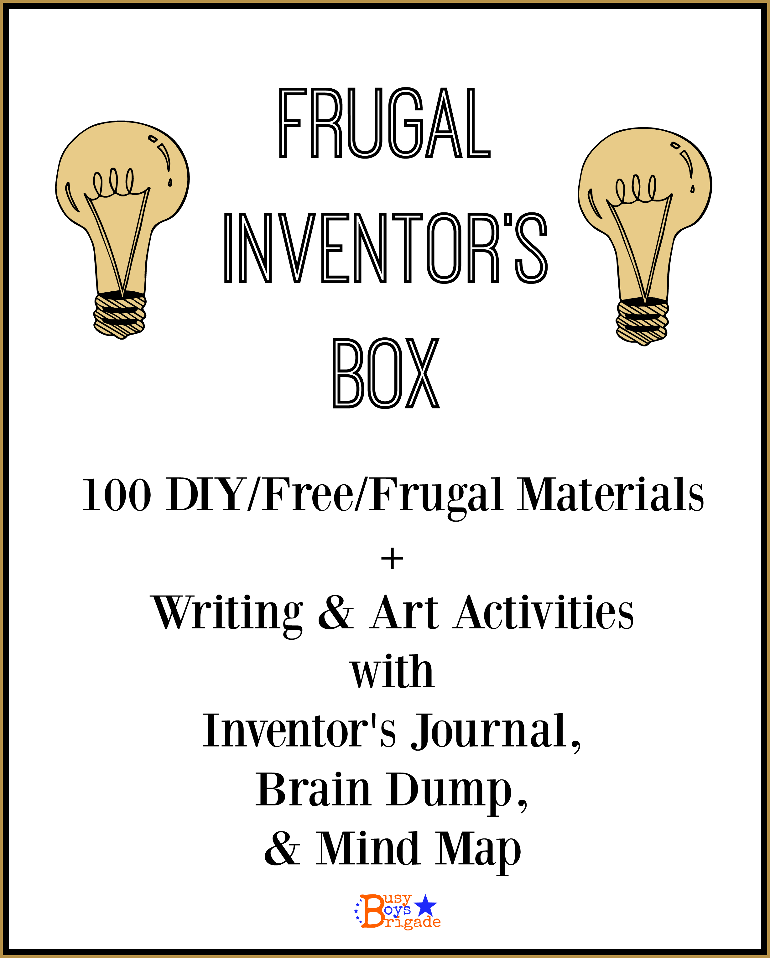 Frugal Inventor S Box List Amp Writing Activities With