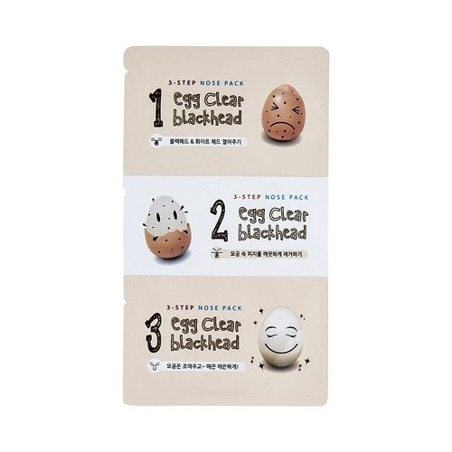 Egg Clear Blackhead 3-Step Nose Pack
