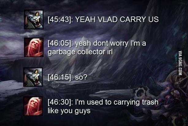 Trash Lol League Of Legends League Memes League Of Legends Memes