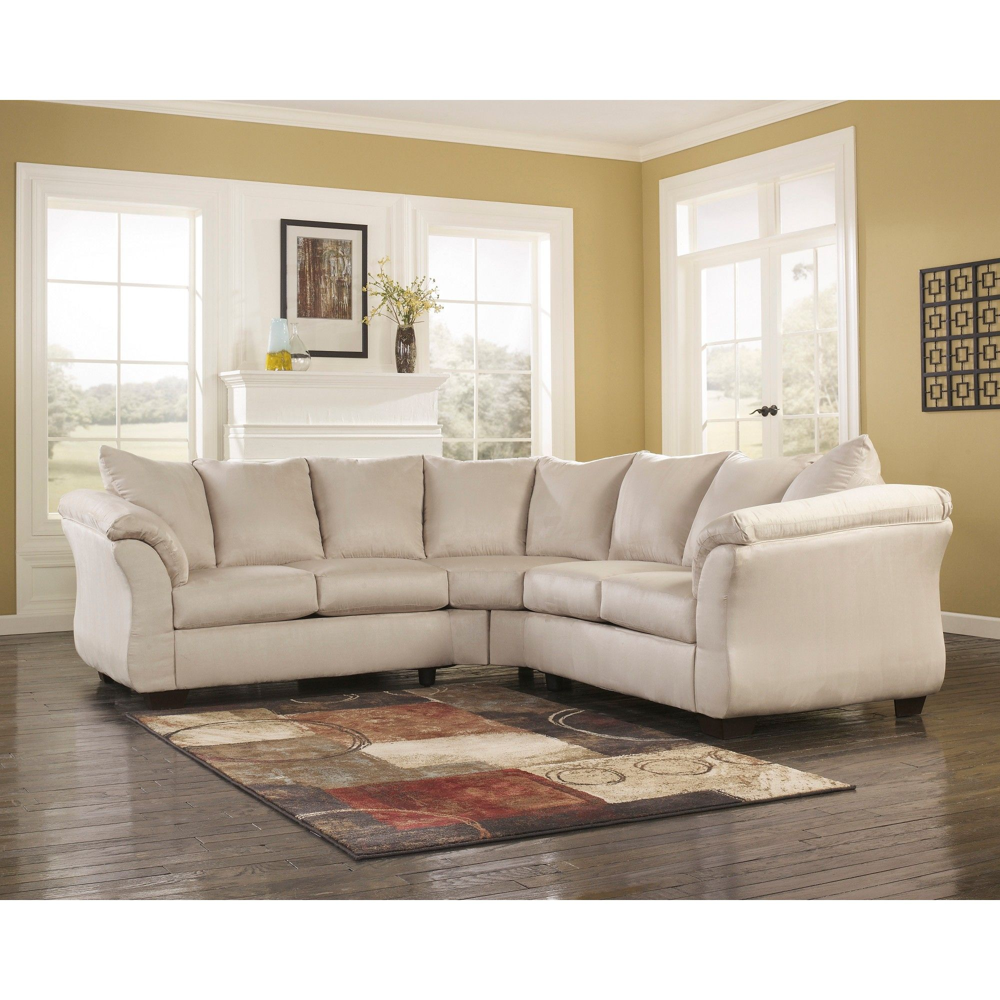 Riverstone Furniture Collection Microfiber Sectional Stone (Grey)