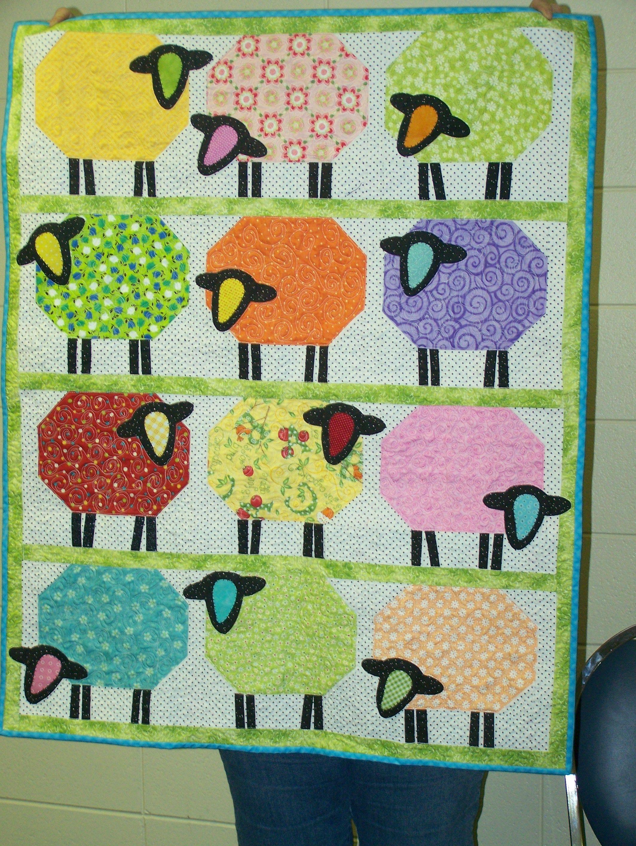 Counting Sheep Quilt Wanda M Enterprise Quilt Guild Pinterest