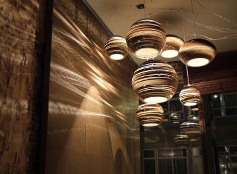 Design Inspiration Celestial Cardboard Lighting Fixtures
