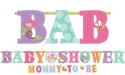 Tweet Baby Girl Baby Shower Letter Banner Combo Pack Ct  Baby