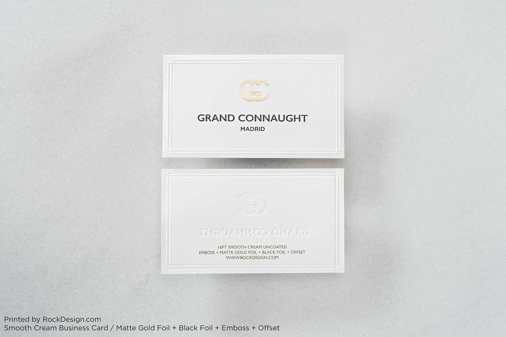Smooth Uncoated Business Cards | RockDesign Luxury Business Card ...
