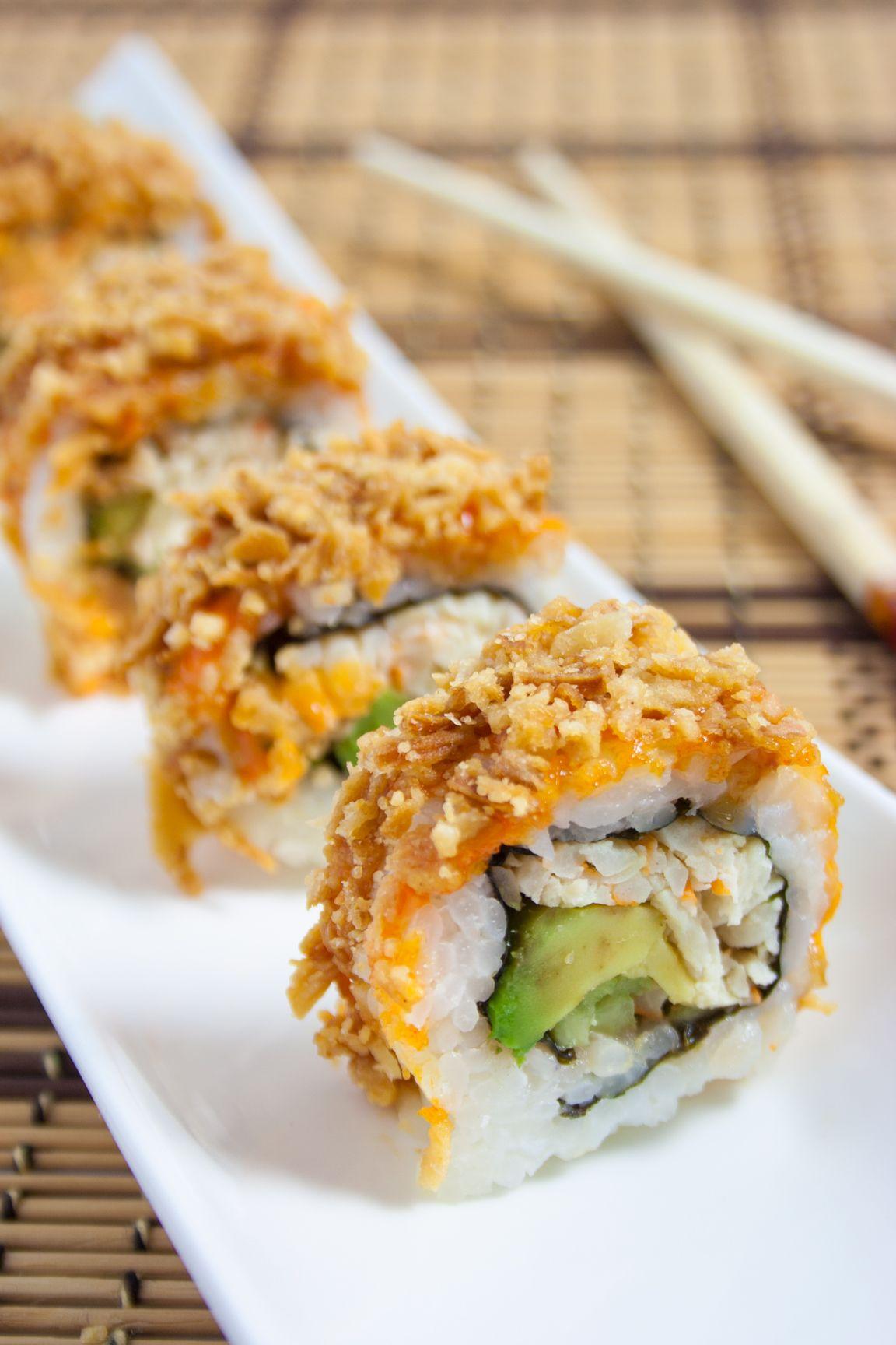 Crunchy Crab Sushi Roll Food Pinterest Crab Sushi