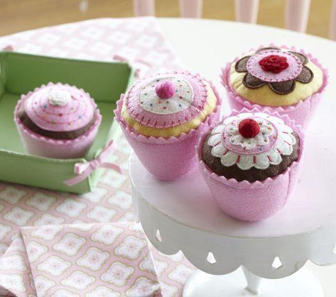 PB Kids Felt Cupcake Set