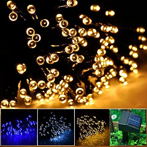 INST Solar Powered LED String Light, Ambiance Lighting, 55ft 17m 100 - solar christmas decorations