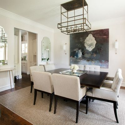 Fabulous Dining Room With Eye Catching Chandelier And