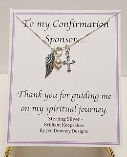 confirmation sponsor gift ideas quotes for your sponsor thank you