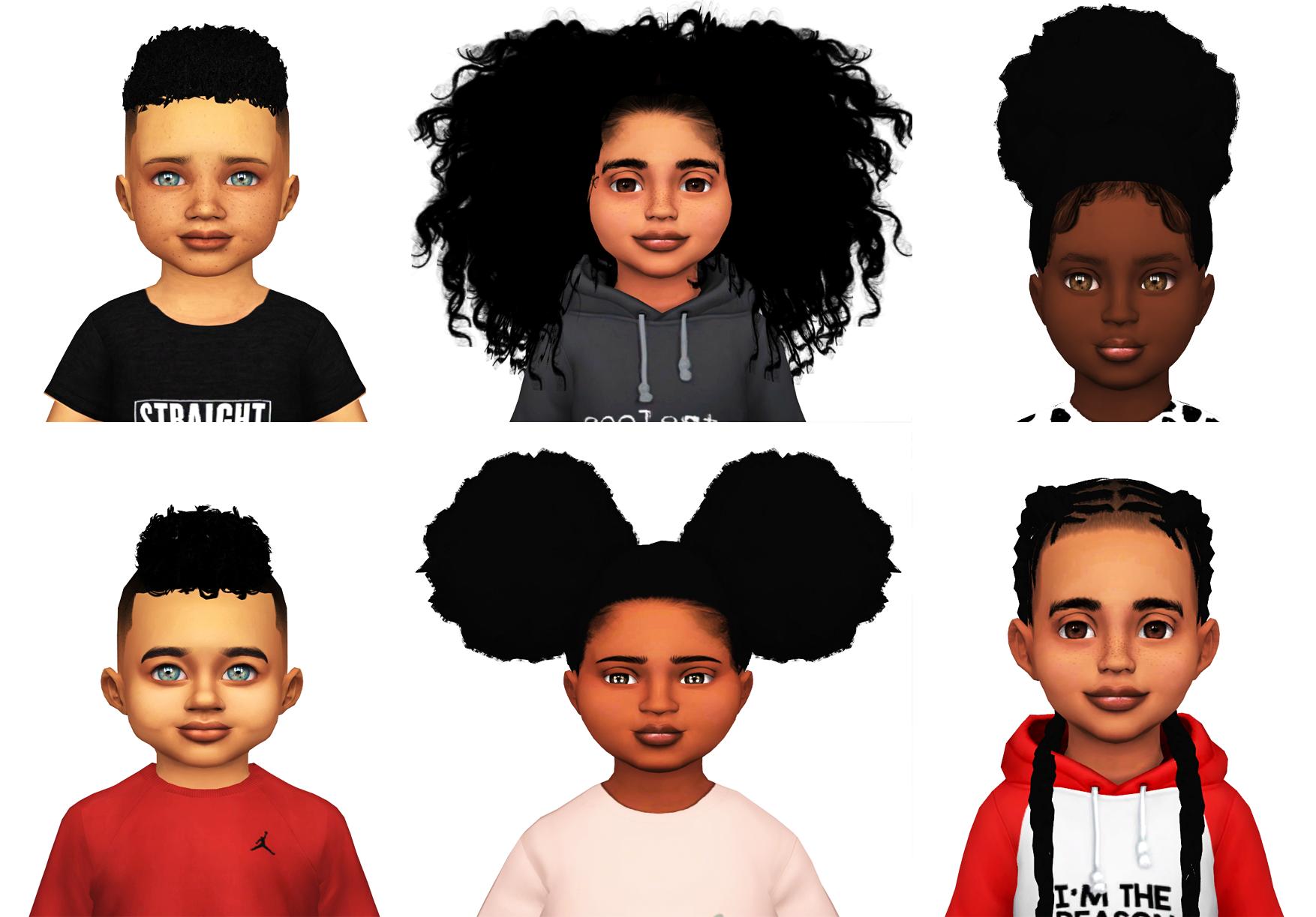 Ebonix Toddler Starter Kit Sims 4 Toddler Sims Hair Sims 4