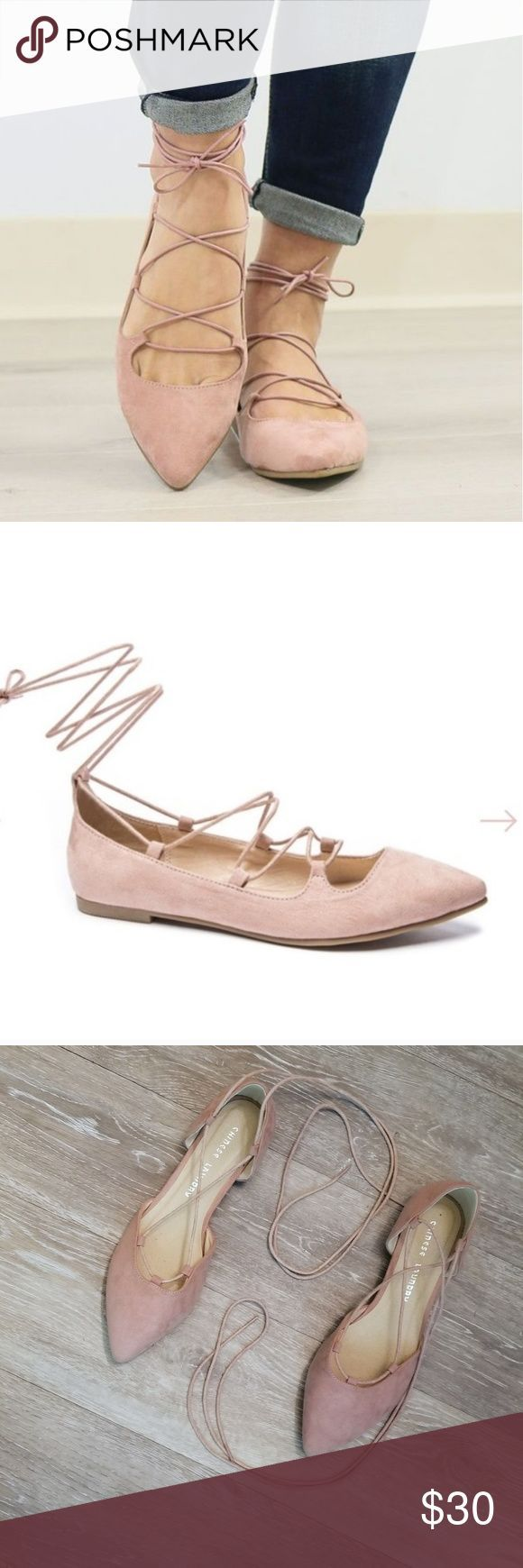 Nwot Chinese laundry pink lace up ballet flats 9 Nwot Chinese laundry pink lace ...  ... Ballet Flats