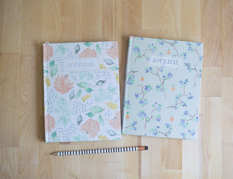 Hardback journal // hardcover notebook // hand painted ...