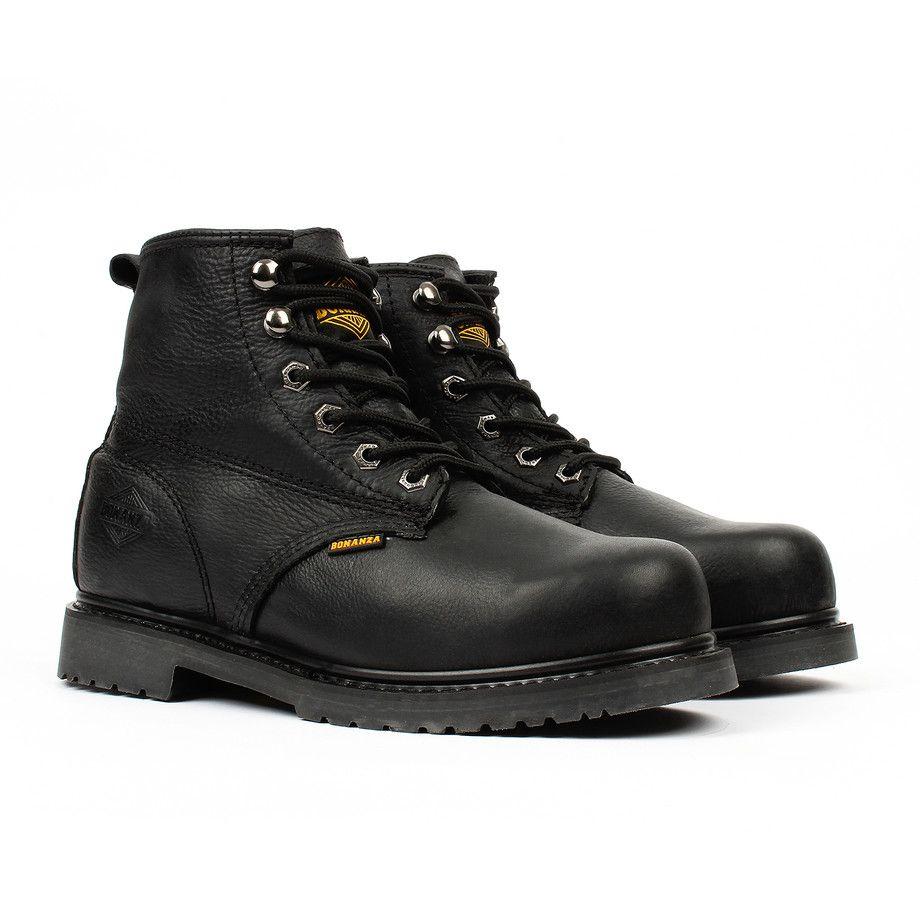 Slip-Resistant Work Boots // Black