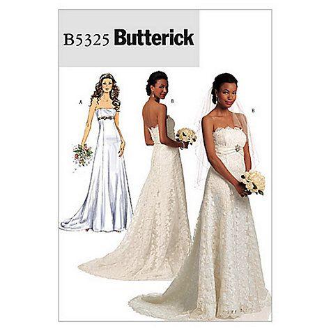 Erick Women S Bridal Dress Sewing Pattern 5325 Online At Johnlewis