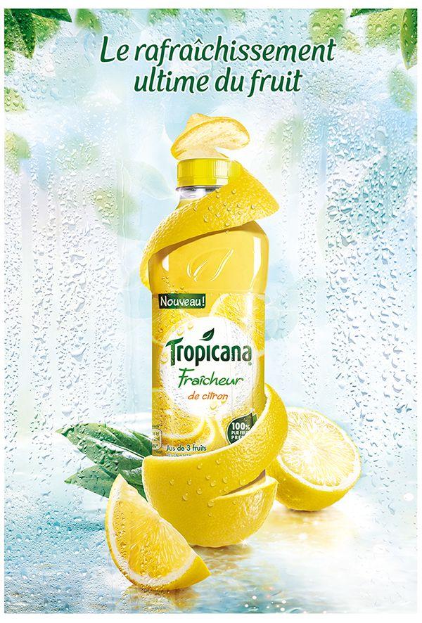 Tropicana Fraicheur Campaign #AdvertisingIdeas | Graphic ...