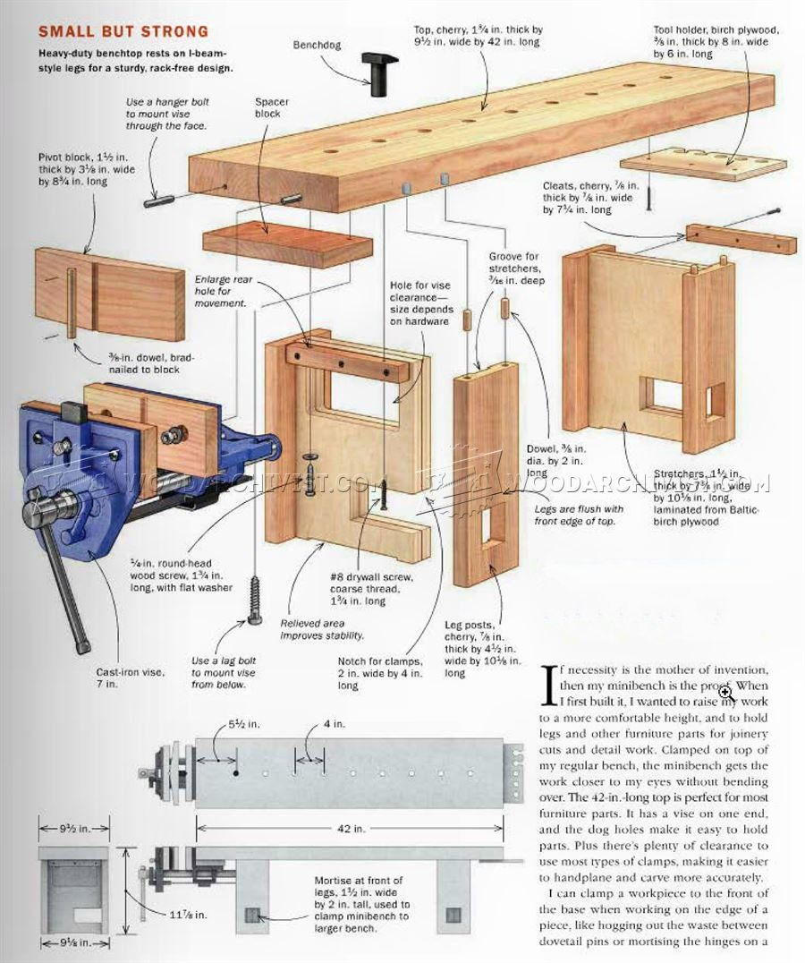 Mini Woodworking Bench Plans In 2020 Woodworking Bench Plans