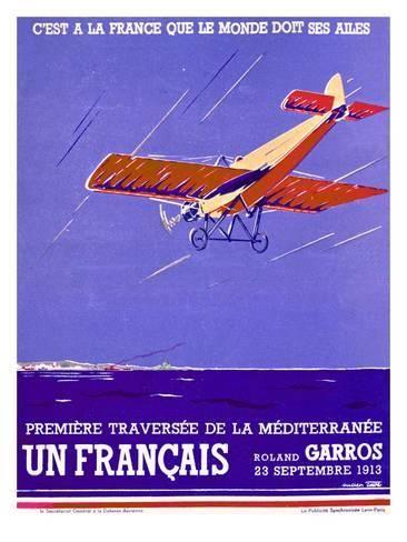 French Mediteranean Aviation Flight Poster