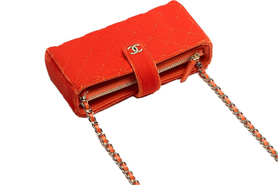 95680502788c7d Chanel Small Velvet Clutch with Long Chain | Designer Bag Love ...