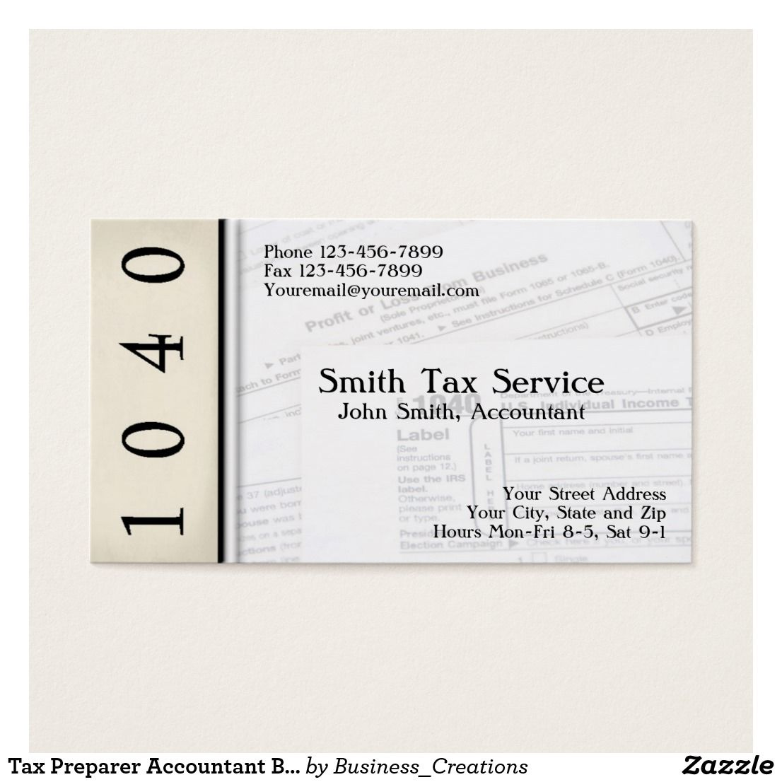 Tax Preparer Accountant Business Card | Business cards and Business