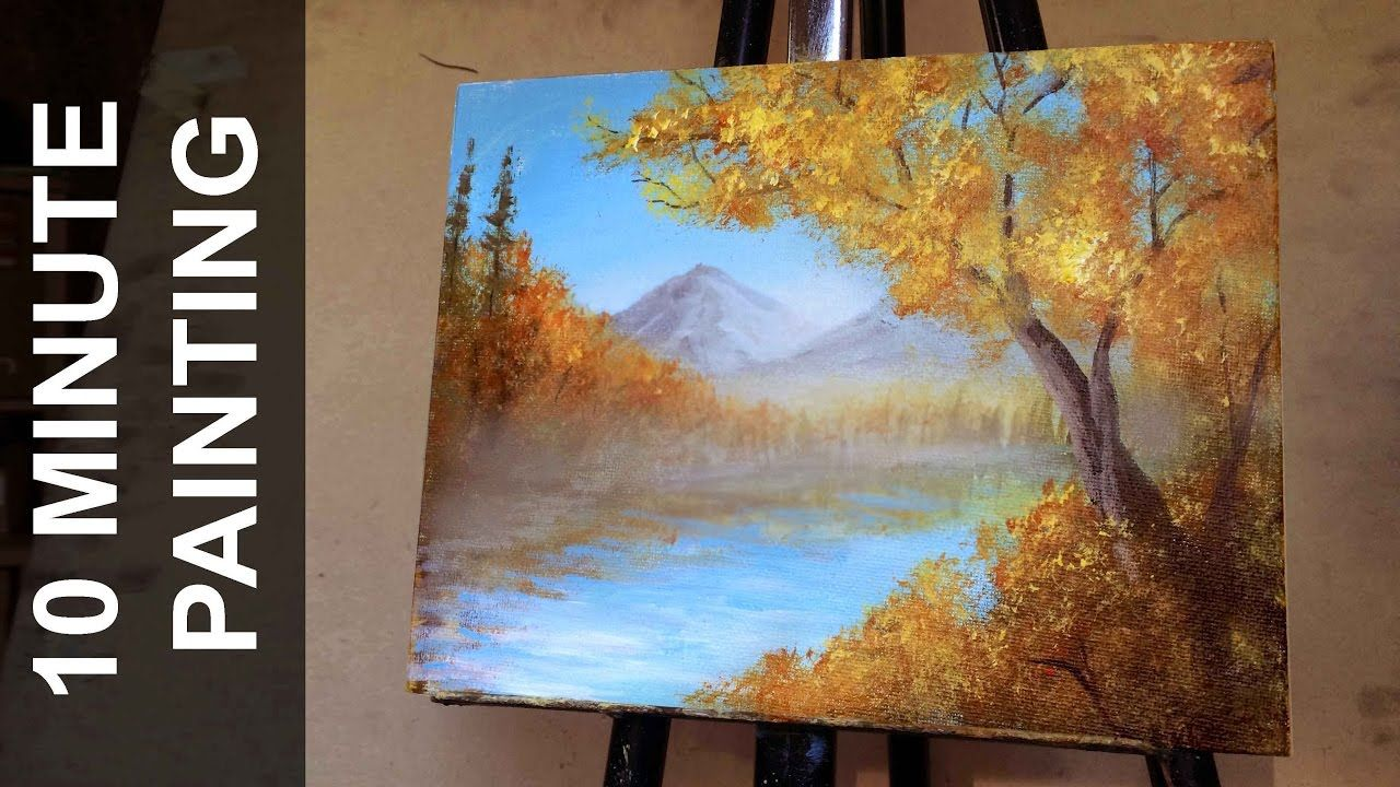 ca36a1ee8 Painting a Autumn Forest Landscape with Acrylics in 10 Minutes - YouTube