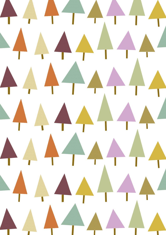 Triangle Tree Pattern A4 print. £5.00, via Etsy. Pattern