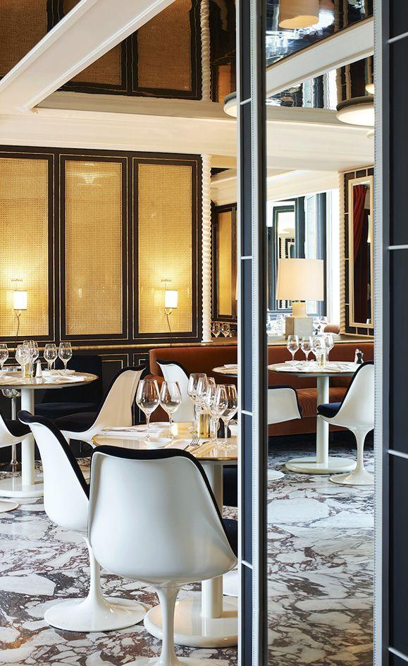 Loulou Restaurant Interior Design Ideas. Restaurant Dining Chairs.  Restaurant Lighting Ideas. Dining Room Chairs. #restaurantinterior  #restaurantinteriors ...