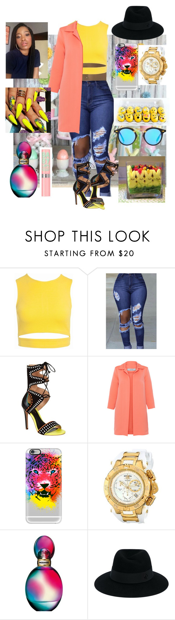 """""""Happy Easter ⛅"""" by cliche12302 ❤ liked on Polyvore featuring Sans Souci, Carvela Kurt Geiger, D.Exterior, Casetify, Invicta, Missoni, Maison Michel and Maybelline"""