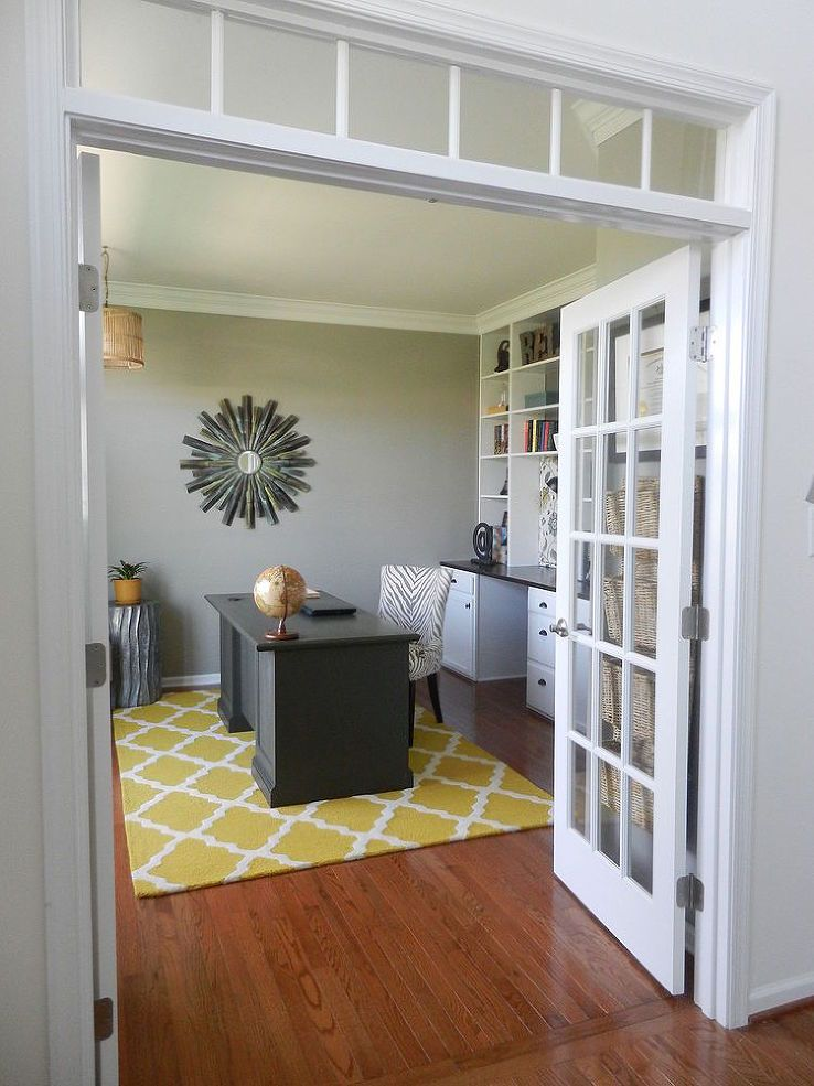 Bon Home Office Reveal   Our DIY Home Office Is Finished! We Did Everything In  This Room Ourselves, From The Hardwood Floors, To The Built In Desk And ...
