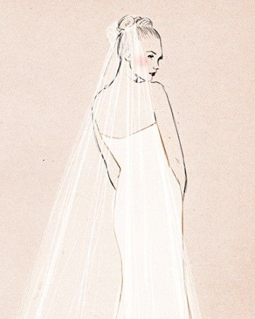 With a length of nine to 25 feet, this is the stuff of fairy tales, especially when paired with an equally grand gown.