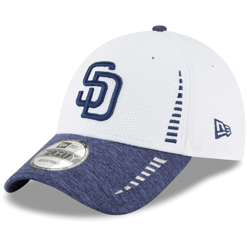 purchase cheap 89d78 082a4 San Diego Padres New Era Speed Tech 9FORTY Adjustable Hat - White