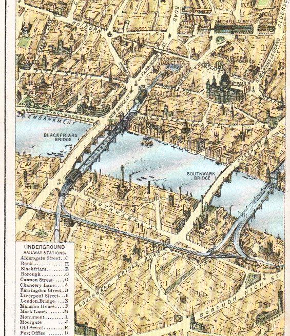 1928 City Of London Map Vintage London By Vintageandnostalgia