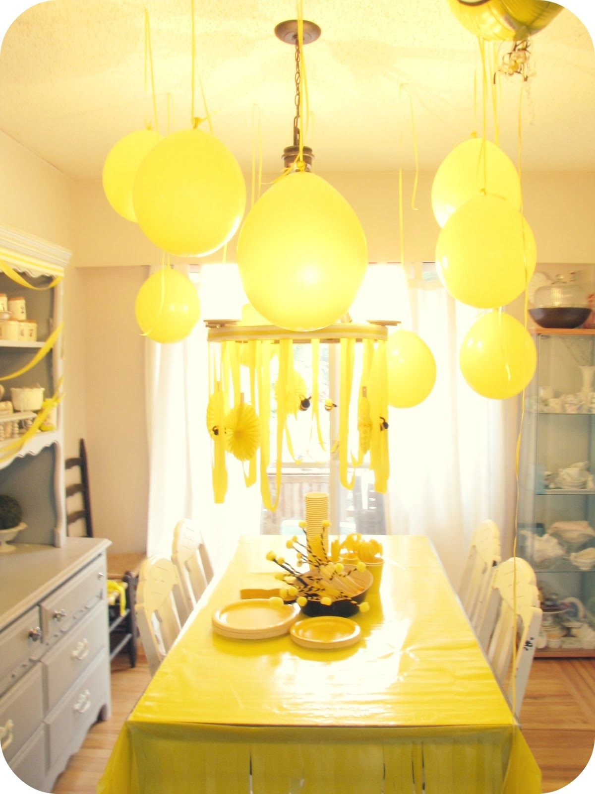 bumble bee party yellow bumble bee party decorjpg - Yellow Decor