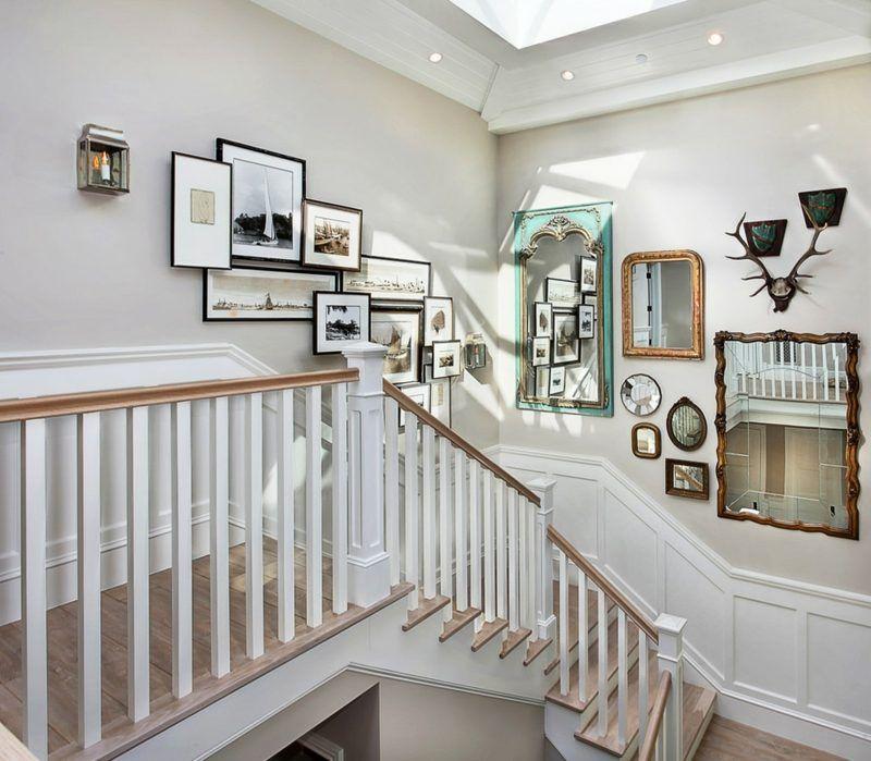 Wandgestaltung Treppenaufgang Gestalten: Fotowand Zu Hause Gestalten- Tipps Und 25 Kreative Ideen