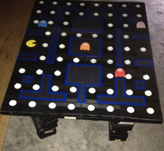 pac-man vhs tape coffee table | craziest gadgets | pinterest | vhs