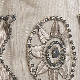 Evening dress Attributed to Mrs. Dunstan (American) Designer: Attributed to Jacques Doucet (French, Paris 1853–1929 Paris) Date: 1908–10 Culture: American Medium: silk, pearl.  (detail 3)