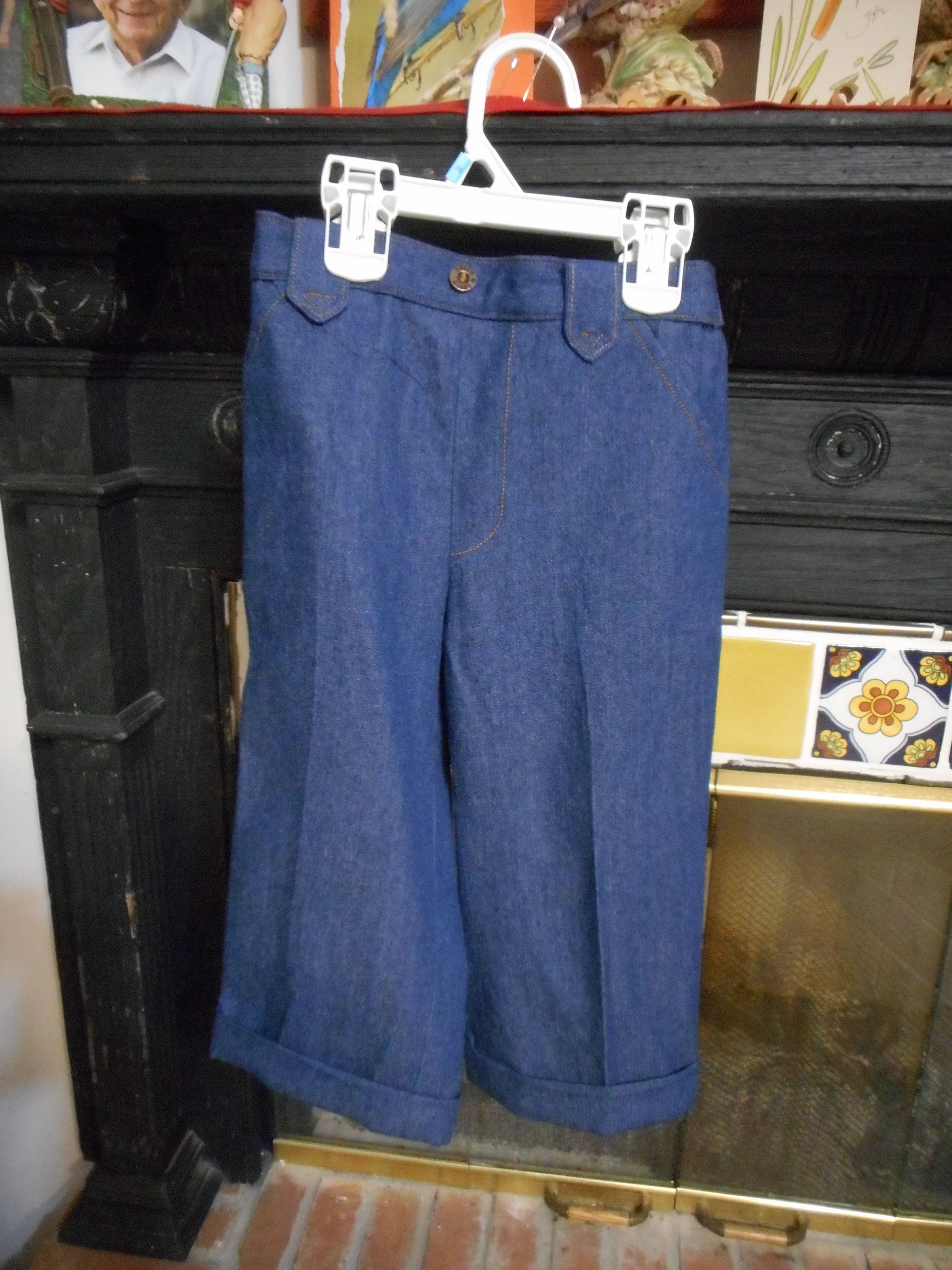 Here are some pants I made for my grandson Elias.  These have a let down hem in 3 lengths.  Simplicity 9129