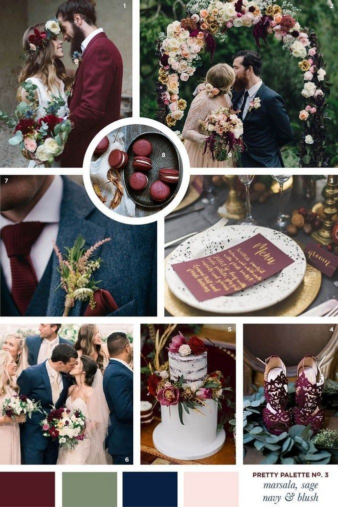45 best burgundy and marsala wedding color ideas for fall brides 16