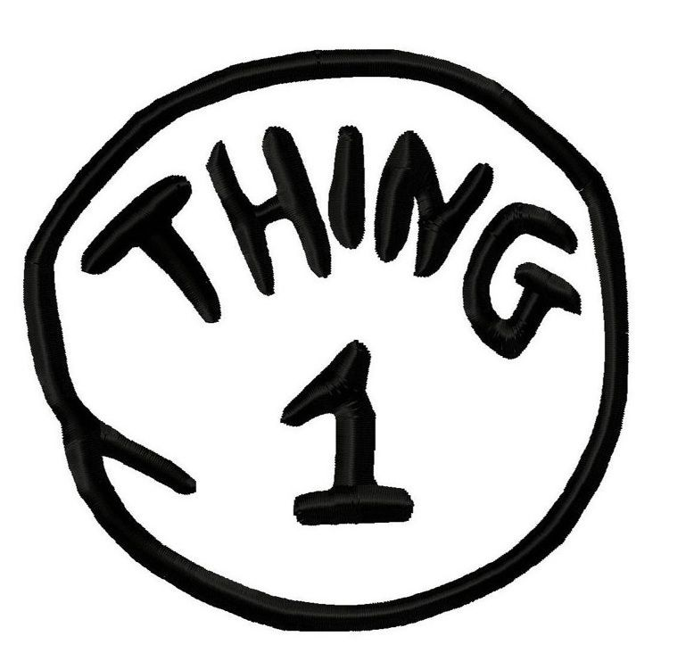 Image Result For Thing 1 Printable Template Editable Thing 1 Dr