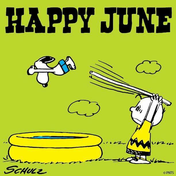 Happy June with Snoopy and Charlie Brown Happy june