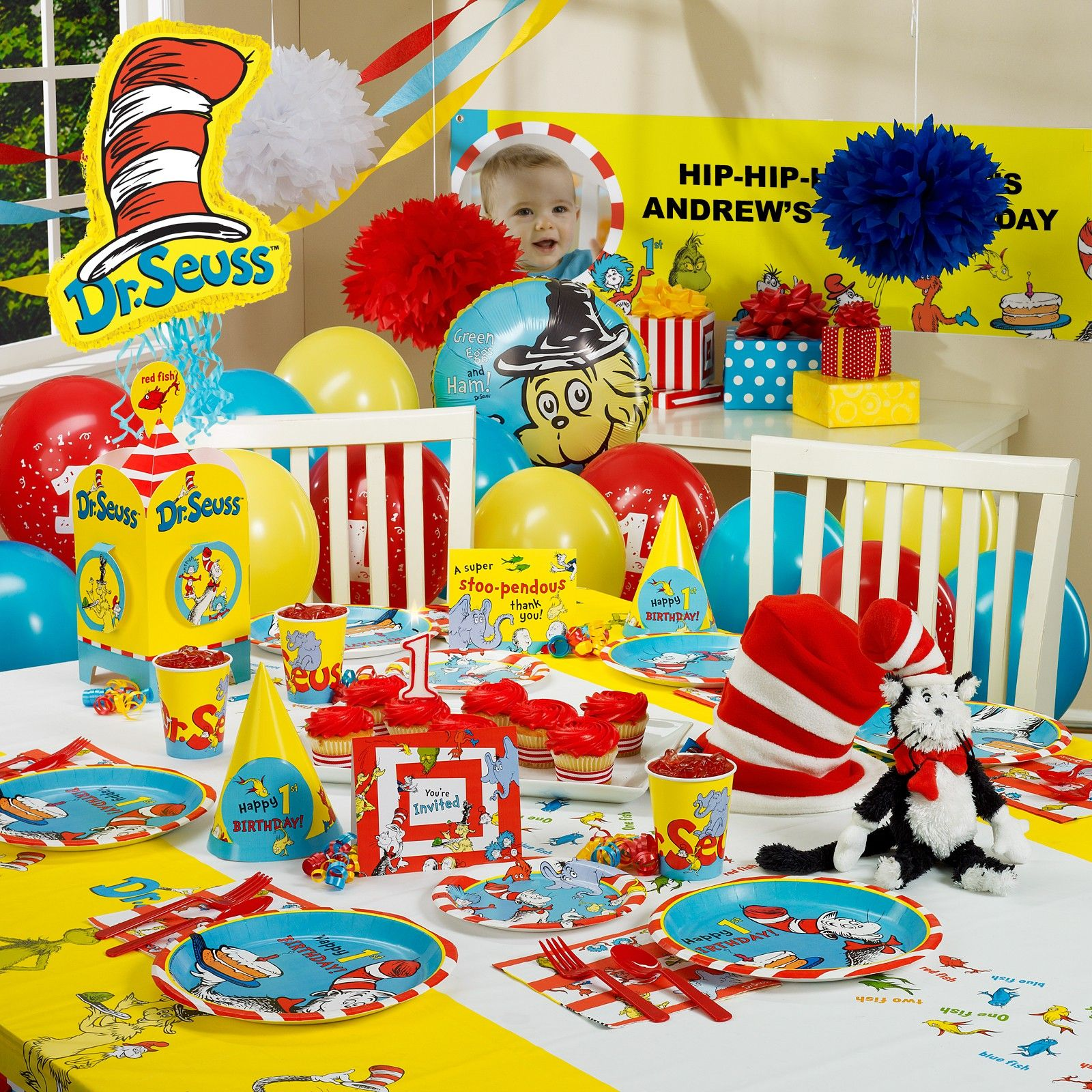 Dr Seuss 1st Birthday Ultimate Party Pack For 16 Birthday Party Packs Dr Seuss Birthday Party 1st Birthday Parties
