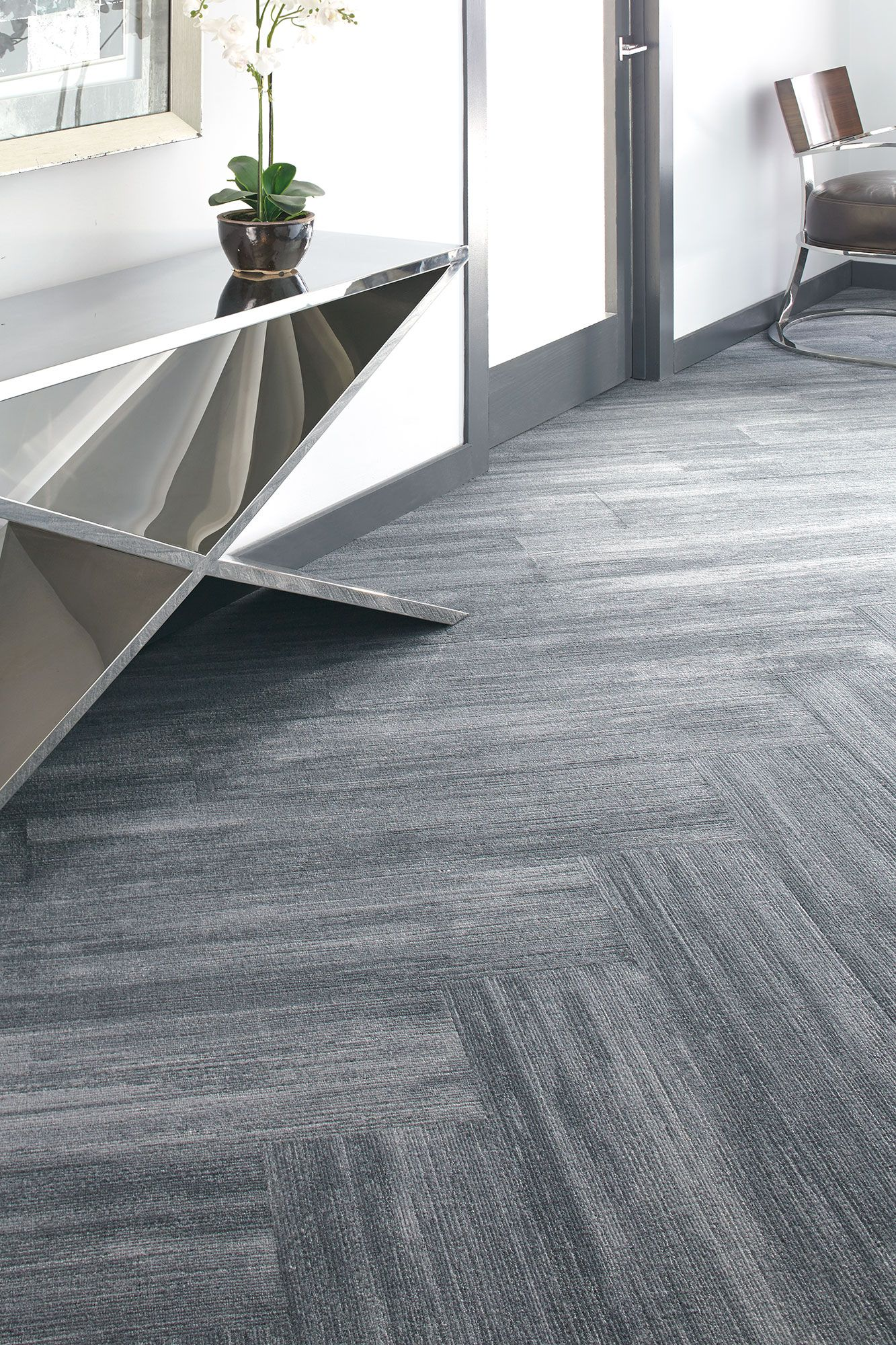 Por Milliken Commercial Great Carpet Tile Laid Out In A Herringbone Style Love This Grey Tones Of Office Works For Modern Design