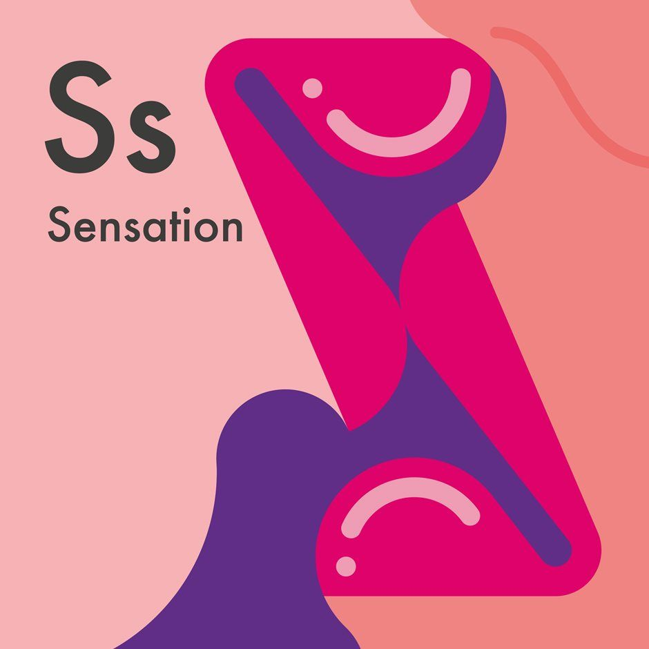 S Is For Sensation Illustration Of Lips Kissing To Form An S  A