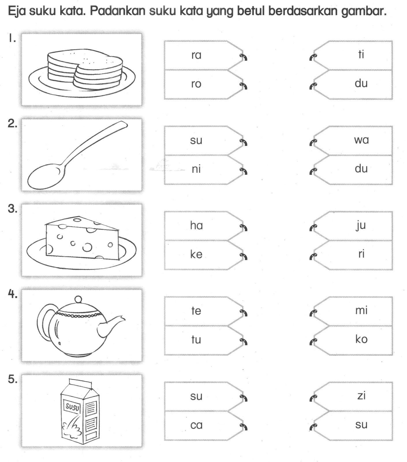 Latihan Bahasa Malaysia Tahun 1 In 2020 Preschool Worksheets Kindergarten Test Kindergarten Reading Worksheets