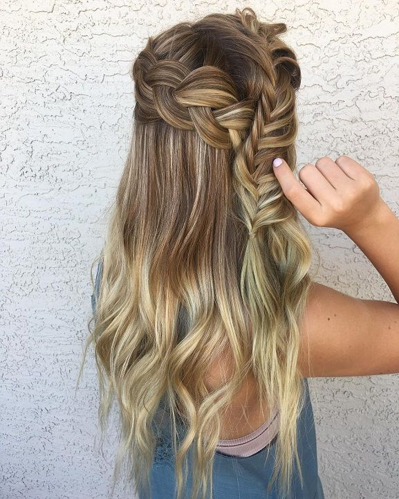 8 Fishtail Braid Hairstyles for Long Hair | Whether you're looking for a basic fishtail braid 'how to' tutorial for everyday, or want something more complicated like a side, dutch, messy, crown, or double fishtail braid updo for a big night out or a wedding, we've rounded up 8 styles you will fall in love with. Have short hair? We've included a couple of product recos to help keep flyaways in place. # double fishtail Braids